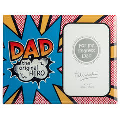 Dad The Original Hero Photo Frame - Rustic Vintage Charm