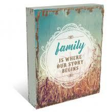 Family is where our story begins Wall Plaque - Rustic Vintage Charm
