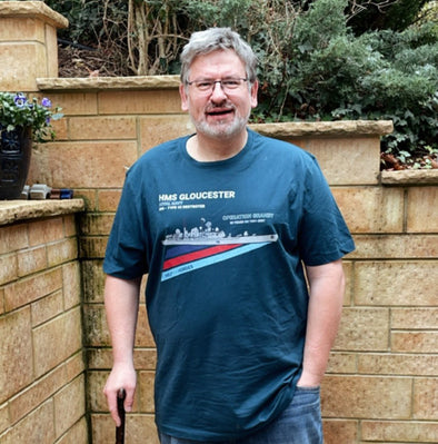 ROYAL NAVY VETERAN NICK, COLLABORATES ON NEW T-SHIRT DESIGN