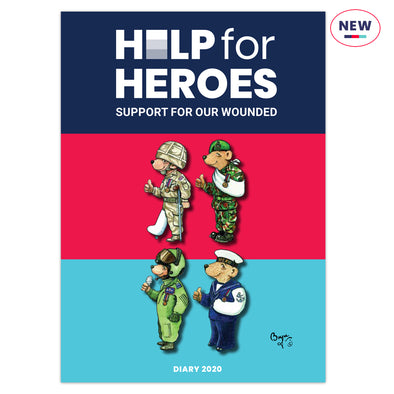 Help for Heroes 2020 A5 Bear Diary