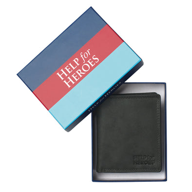 Help for Heroes Black Trifold Leather Wallet