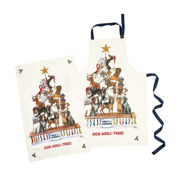 Help for Heroes Dog Agili-Tree Apron and Tea Towel Set