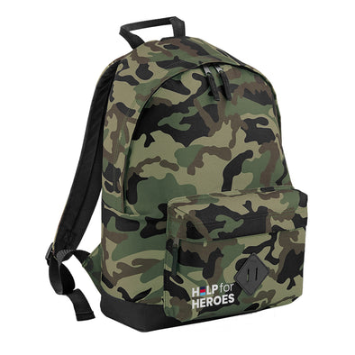 Green Camo Honour Pocket Backpack