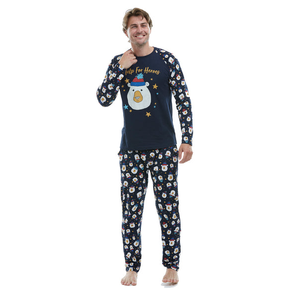 Help for Heroes Bear Print Pyjama Bottoms
