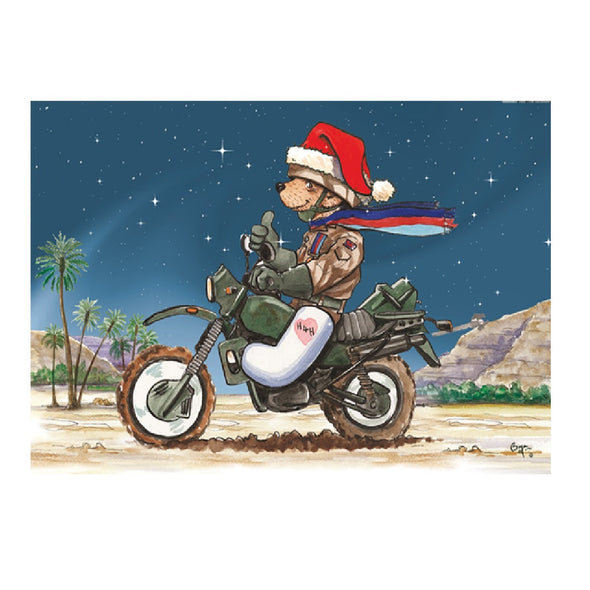 Help for Heroes Christmas Card - Biking Bear
