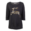 Help for Heroes Black Festive Deer T-Shirt