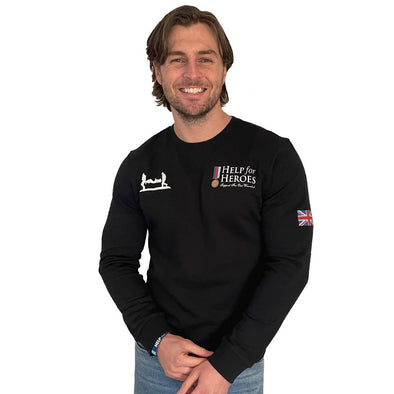Help for Heroes Black Heritage Crew Sweatshirt
