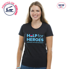 Help for Heroes Black Honour Logo T-Shirt