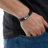 Help for Heroes Black Leather Intrepid Bracelet
