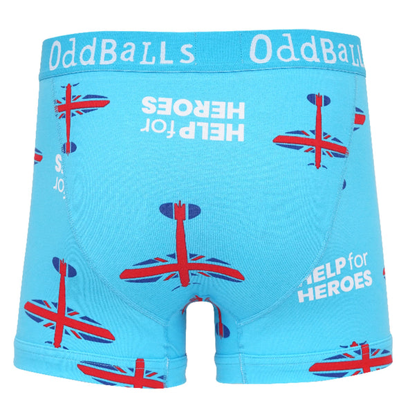 Help for Heroes Blue Spitfire Boxer Shorts