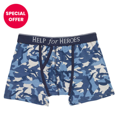 Help for Heroes Blue Camo Trunks 1pk