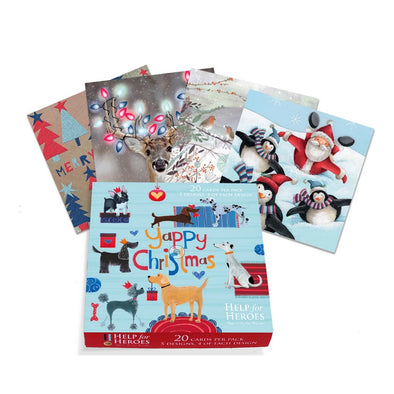 Help for Heroes Christmas Card Boxset 2018