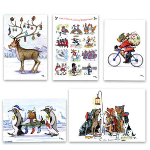 Help for Heroes Bryn Parry: Mixed Christmas Cards Boxset 2020 - Pack of 20
