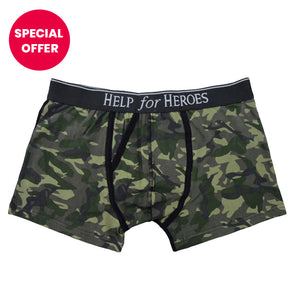 Help for Heroes Green Camo Trunks 1pk