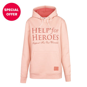 Help for Heroes light pink Aspire Hoody