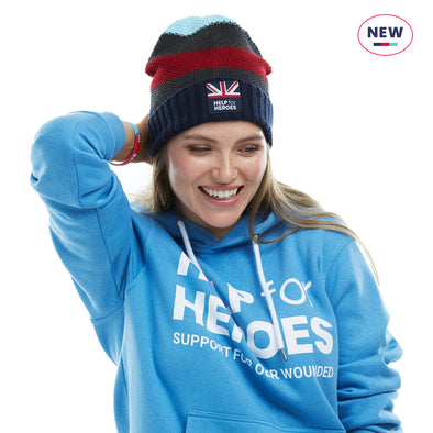 Help for Heroes Striped Courage Beanie