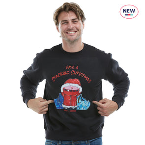 Help for Heroes Black Cracking Christmas Sweatshirt
