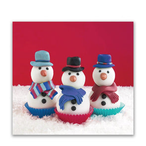 Help for Heroes Cupcake Snowmen Christmas Cards