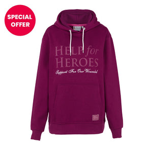 Women's Pull on Damson Hoody from Help for Heroes