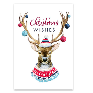 Help for Heroes Decorated Antlers Christmas Cards - Pack of 10