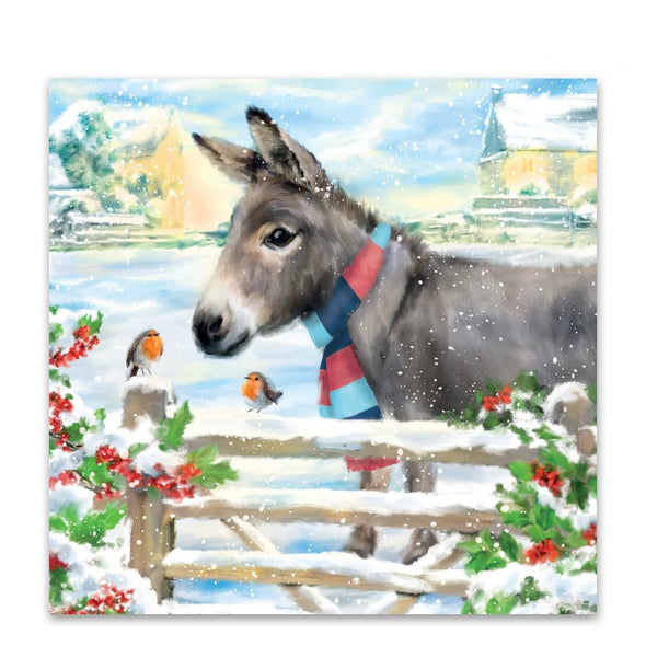 Help for Heroes Donkey and Robin Christmas Cards - Pack of 10
