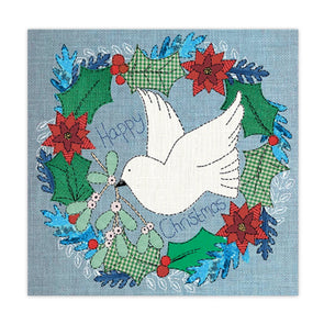 Help for Heroes Dove of Peace Wreath Christmas Cards - pack of 10