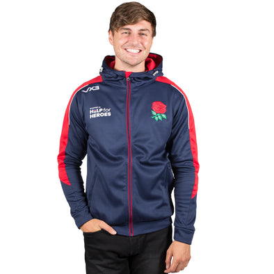 Help for Heroes England Zipped Rugby Hoody