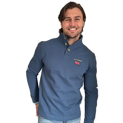 Help for Heroes Ensign Blue Union Jack Collar Sweatshirt