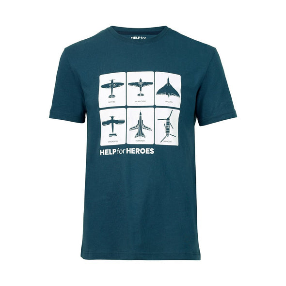 Help for Heroes Ensign Blue Spotting Cards T-Shirt
