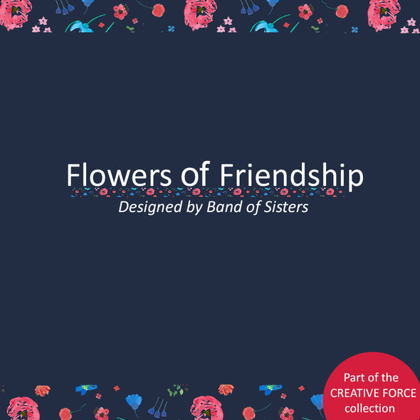 Navy Flowers of Friendship T-shirt