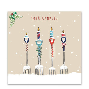 Help for Heroes Four Candles Christmas Cards - Pack of 10