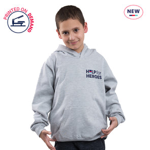 Children's Grey Small Honour Logo Hoody