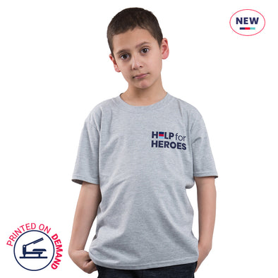 Children's Sports Grey Small Honour T-Shirt