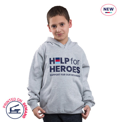Children's Grey Honour Logo Hoody