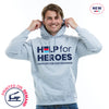 Help for Heroes Heather Grey Honour Pullover Hoody
