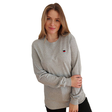 Help for Heroes Grey Marl Crew Neck Long Sleeve Honour T-Shirt