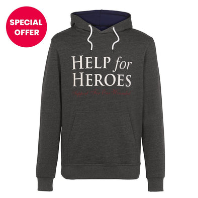 Help for Heroes Grey Marl Ardley Hoody