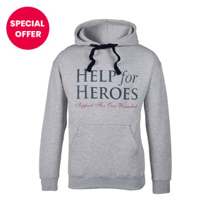 Help for Heroes Grey Marl-Tri Essential Hoody
