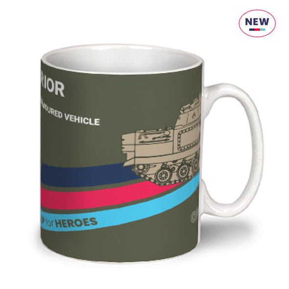 Help for Heroes Pale Olive Warrior Mug