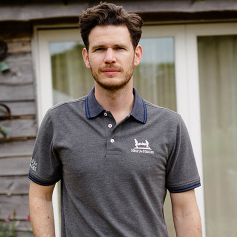 Help for Heroes Dark Grey Marl Ascot Polo Shirt