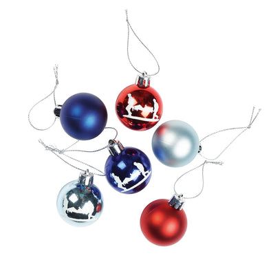 Help for Heroes Tri colour Christmas Baubles