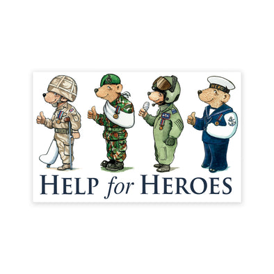 Help for Heroes Hero Bears Car Sticker