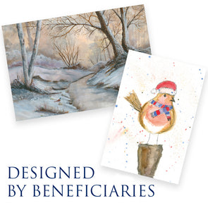 Robin Red Breast Christmas Card and Winter Scene cards
