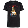 Black 'Tis' The Season' Basset Hound T-shirt