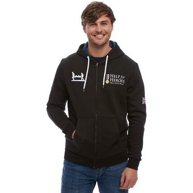 Help for Heroes Black Classic Zipped Hoody