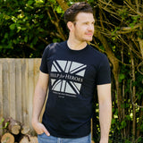 Help for Heroes Black Distressed Flag T-Shirt