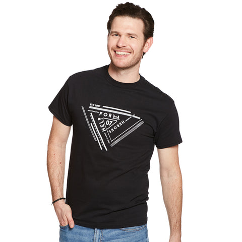 Help for Heroes Black Geo Print T-Shirt