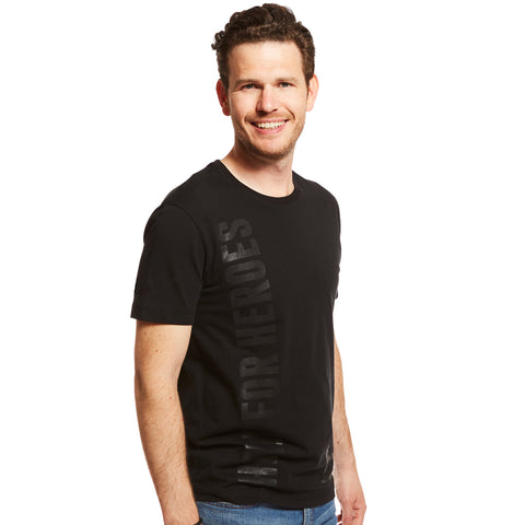 Help for Heroes Gosport Black Tonal Print T-Shirt
