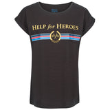 Help for Heroes Black Icon Stripe T-shirt