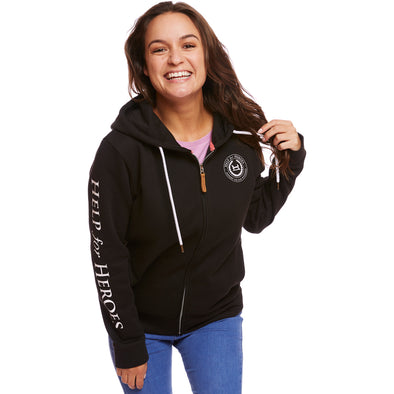 Black Lexington Zipped Hoody